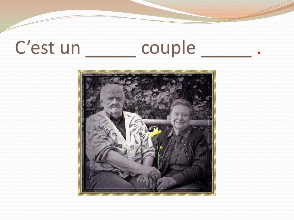 Cest un _____ couple _____.