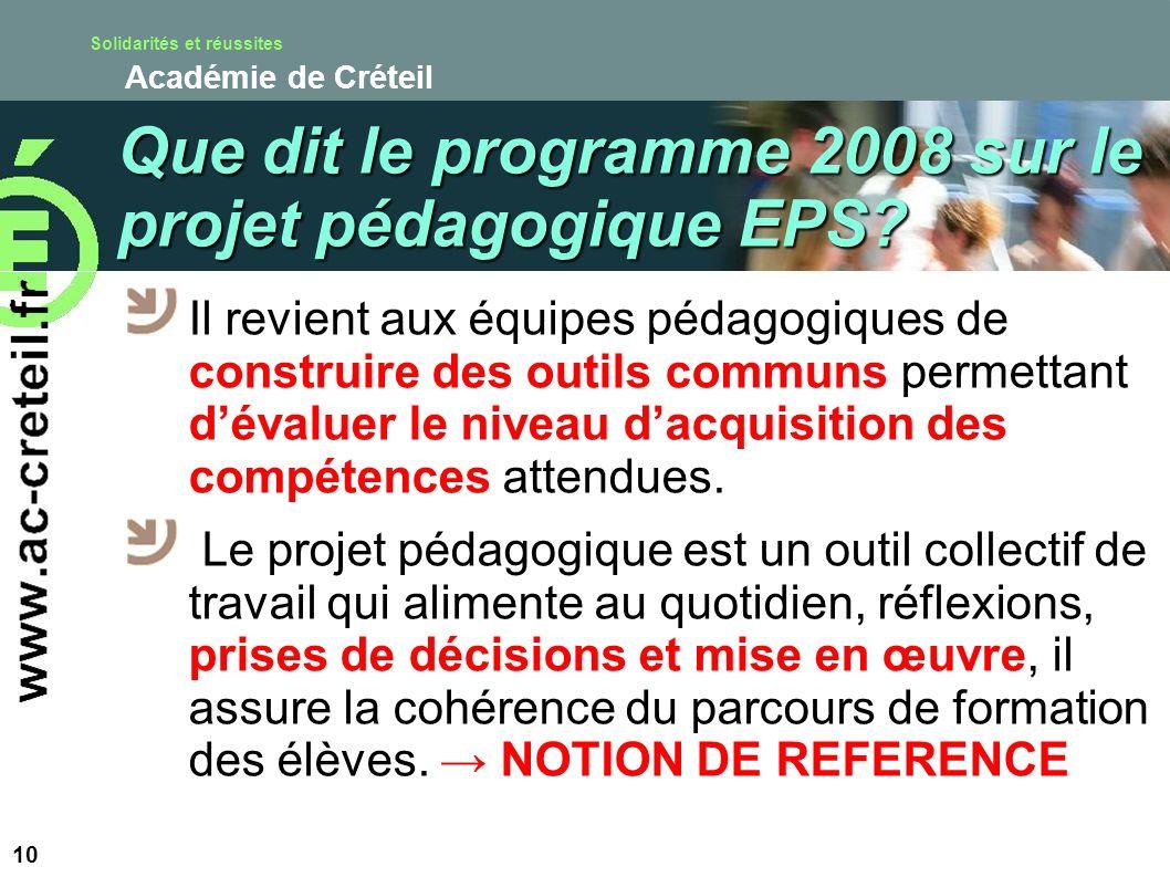 Solidarités et réussites Académie de Créteil Il revient aux équipes pédagogiques de construire des outils communs permettant dévaluer le niveau dacqui