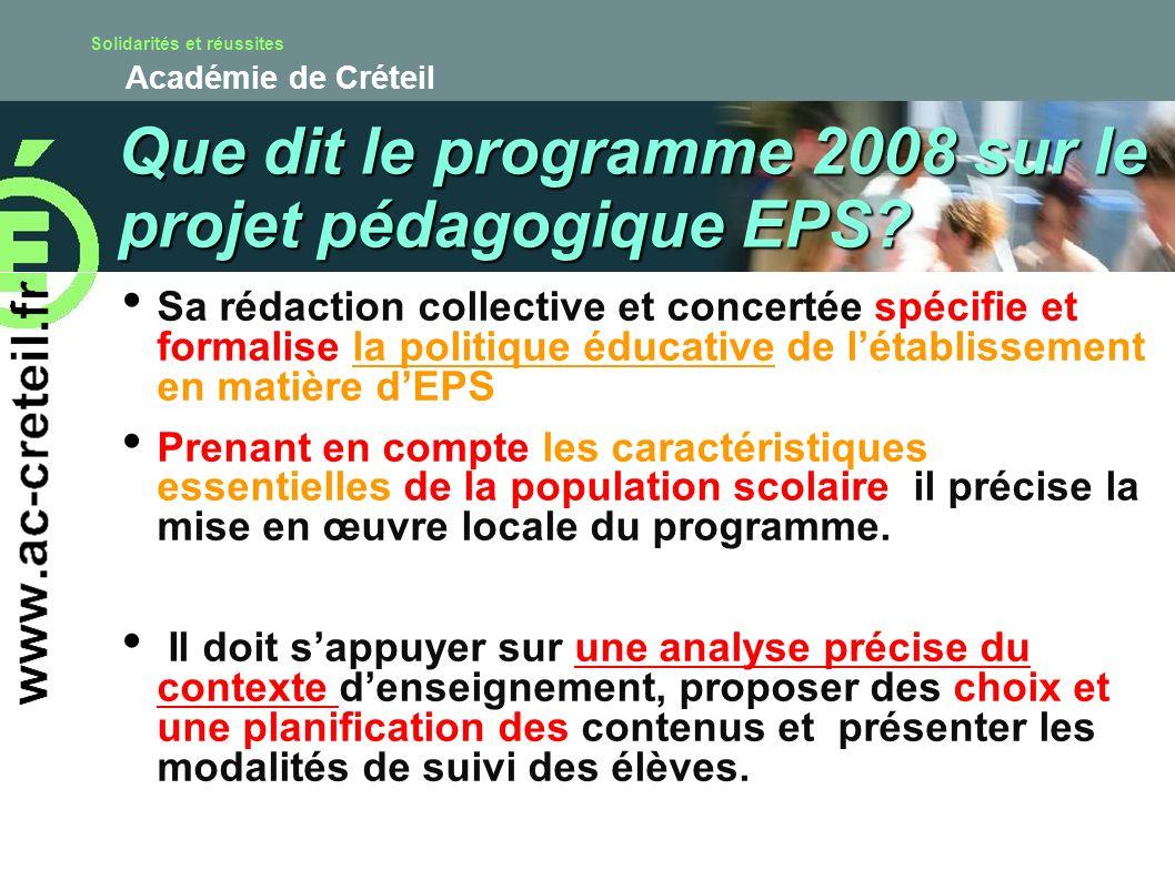 Solidarités et réussites Académie de Créteil Sa rédaction collective et concertée spécifie et formalise la politique éducative de létablissement en ma
