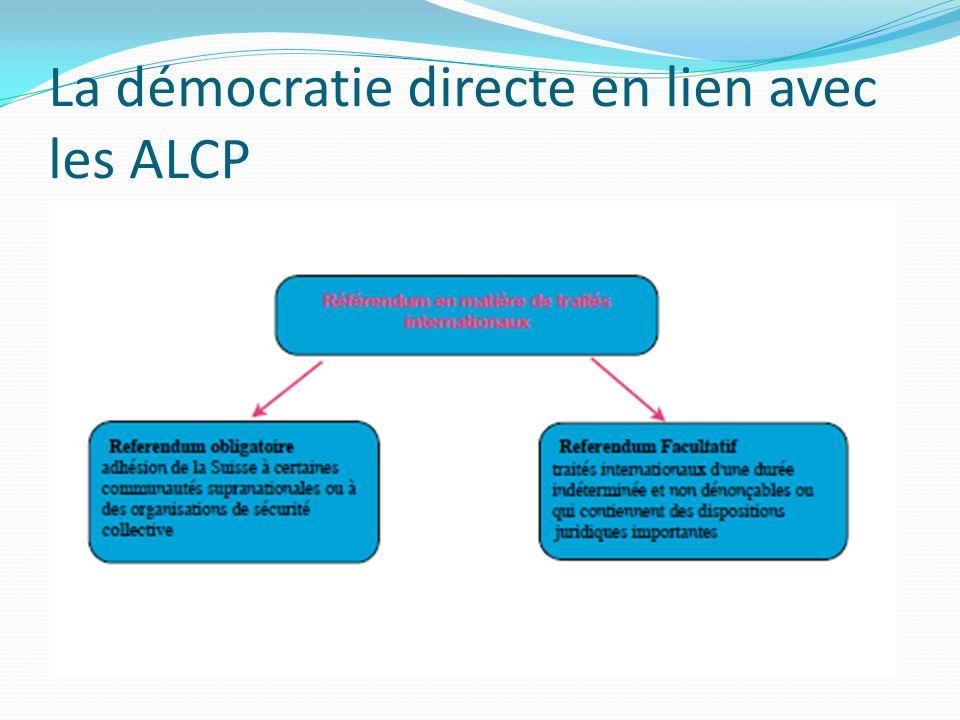 La démocratie directe en lien avec les ALCP