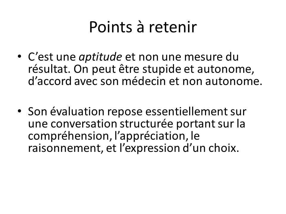 Points à retenir Cest une aptitude et non une mesure du résultat.