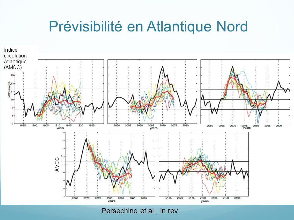 Prévisibilité en Atlantique Nord Persechino et al., in rev.