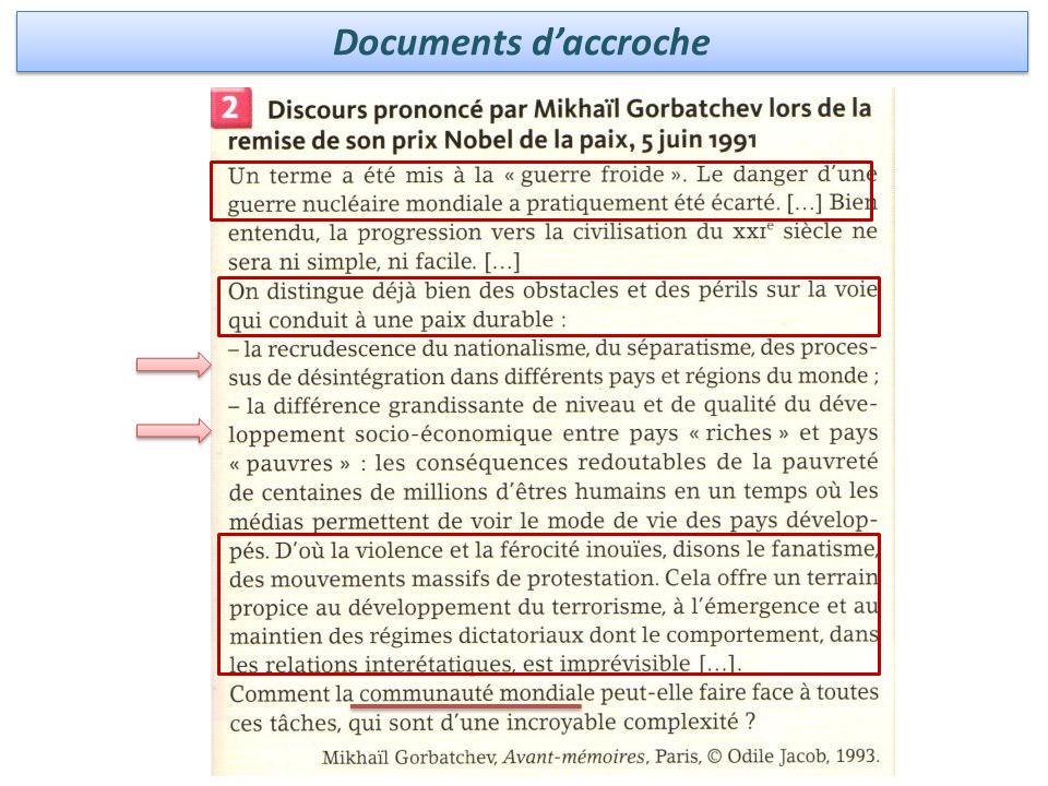 Documents de mise en perspective ou de précision