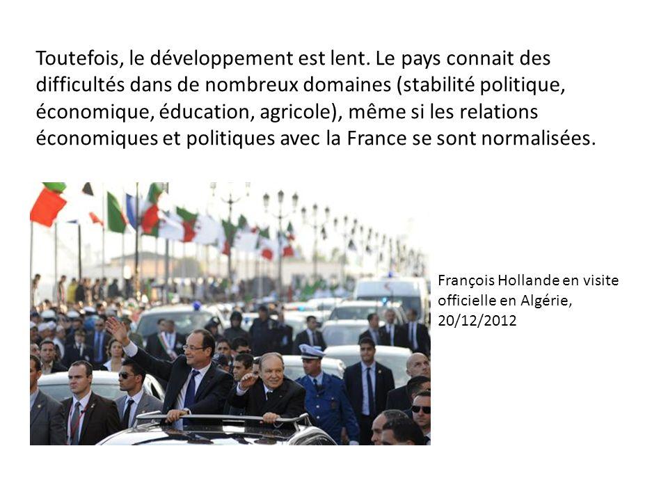 Toutefois, le développement est lent. Le pays connait des difficultés dans de nombreux domaines (stabilité politique, économique, éducation, agricole)
