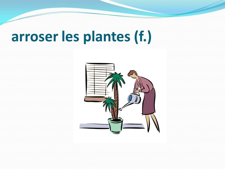 arroser les plantes (f.)