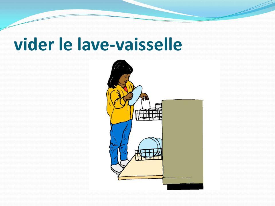 vider le lave-vaisselle
