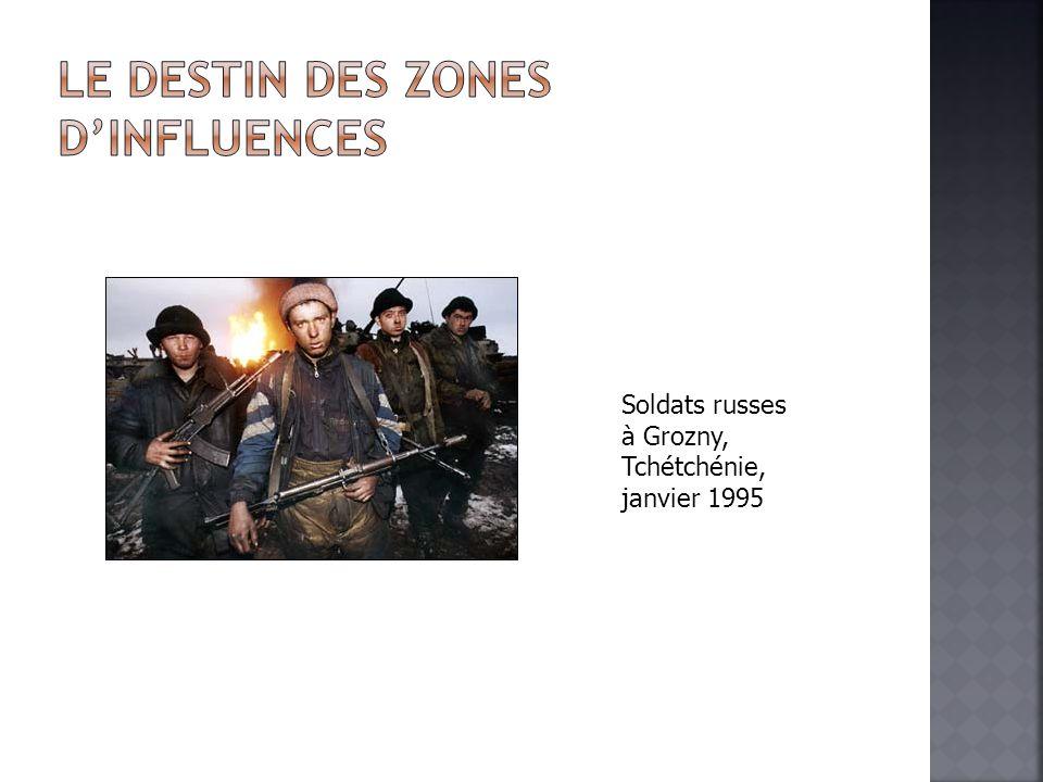 Soldats russes à Grozny, Tchétchénie, janvier 1995