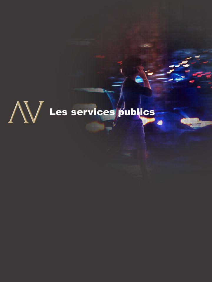 8 Les services publics