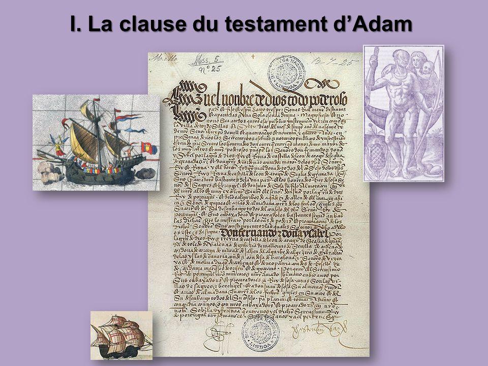 I. La clause du testament dAdam I. La clause du testament dAdam