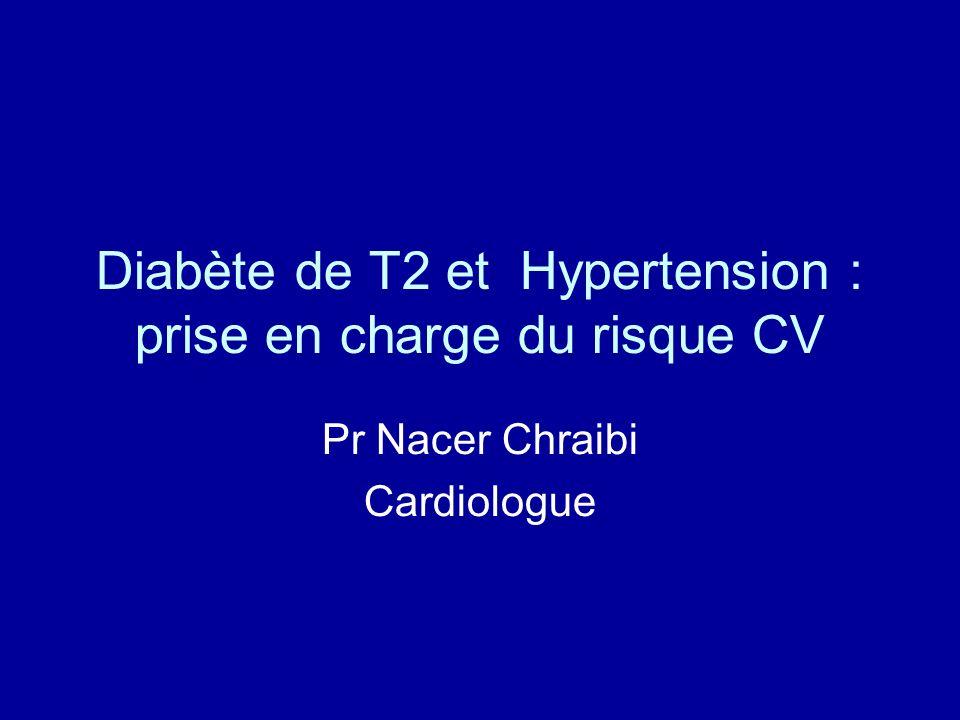 Diabète de T2 et Hypertension : prise en charge du risque CV Pr Nacer Chraibi Cardiologue
