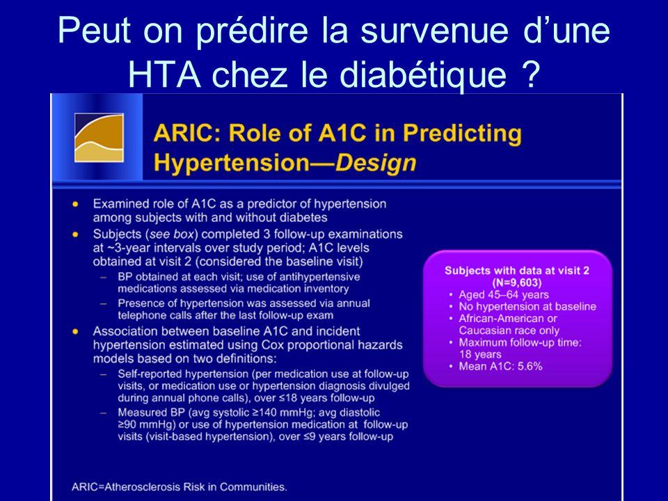 Peut on prédire la survenue dune HTA chez le diabétique ?