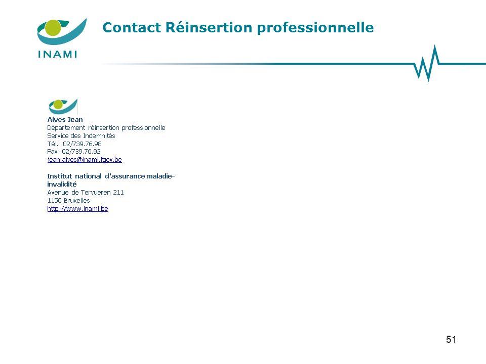 Contact Réinsertion professionnelle 51