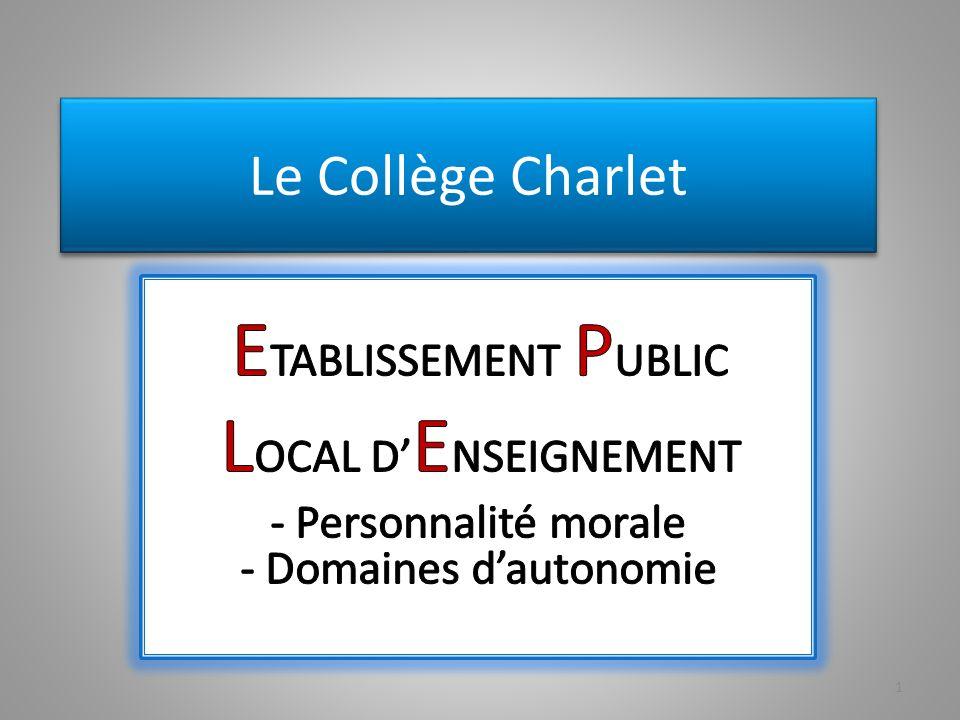 Le Collège Charlet 1