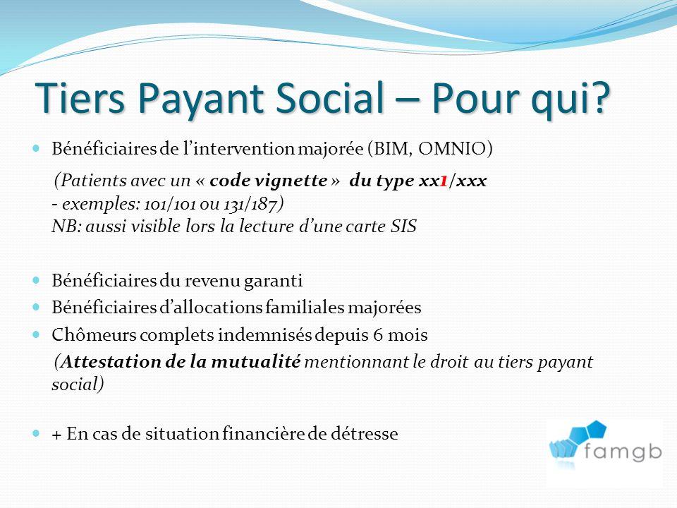 Tiers Payant Social – Pour qui.