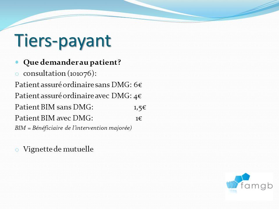 Tiers-payant Que demander au patient.