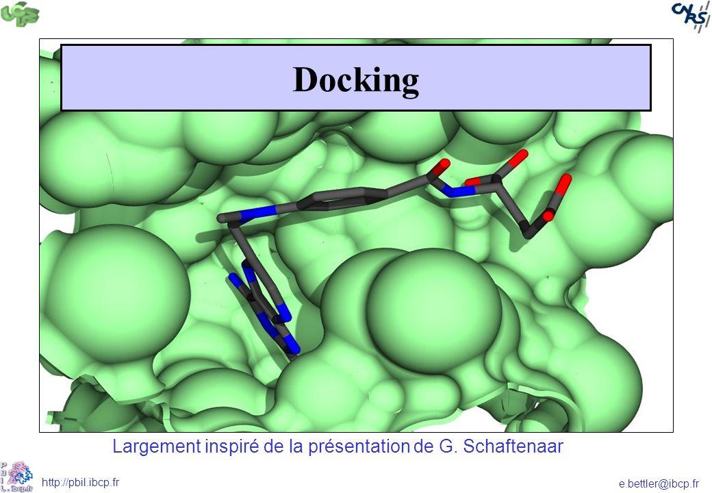 e.bettler@ibcp.fr http://pbil.ibcp.fr Docking Largement inspiré de la présentation de G. Schaftenaar