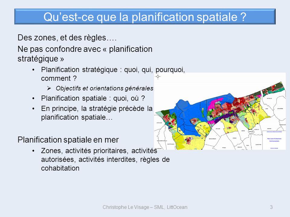Quest-ce que la planification spatiale ? Des zones, et des règles…. Ne pas confondre avec « planification stratégique » Planification stratégique : qu