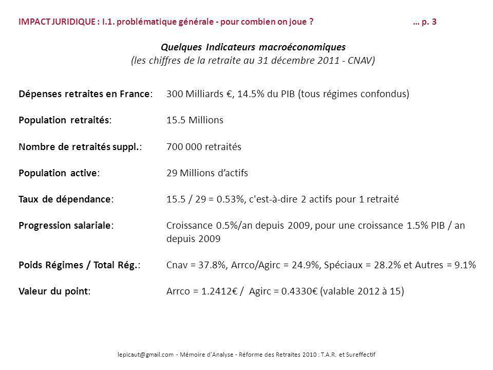 lepicaut@gmail.com - Mémoire dAnalyse - Réforme des Retraites 2010 : T.A.R. et Sureffectif IMPACT JURIDIQUE : I.1. problématique générale - pour combi