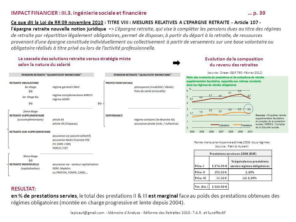 lepicaut@gmail.com - Mémoire dAnalyse - Réforme des Retraites 2010 : T.A.R. et Sureffectif IMPACT FINANCIER : III.3. ingénierie sociale et financière…