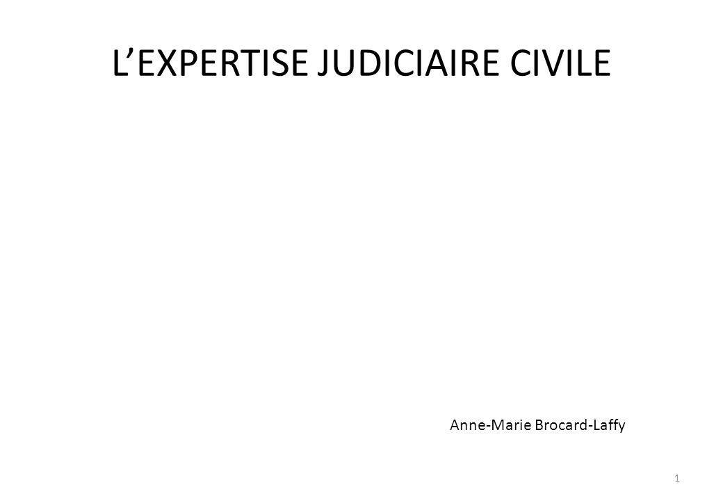 LEXPERTISE JUDICIAIRE CIVILE Anne-Marie Brocard-Laffy 1