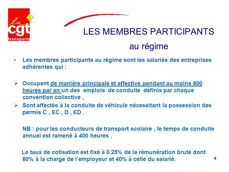 LES MEMBRES PARTICIPANTS au régime Les membres participants au régime sont les salariés des entreprises adhérentes qui : Occupent de manière principal