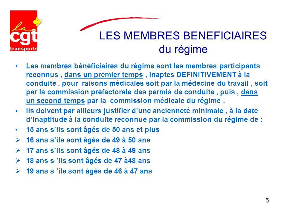 LES MEMBRES BENEFICIAIRES du régime Les membres bénéficiaires du régime sont les membres participants reconnus, dans un premier temps, inaptes DEFINIT