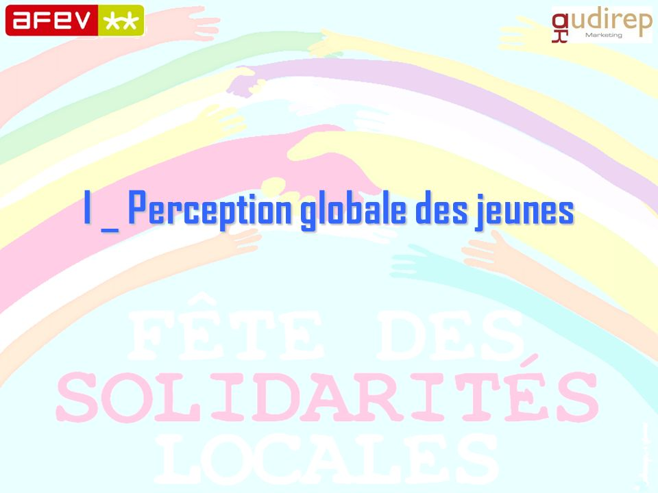 I _ Perception globale des jeunes