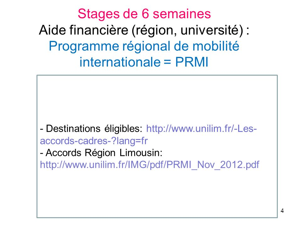 15 Conventions déchanges internationaux SCORE : Standing Comittee On Research Exchanges (stages en labo de recherche) SCOPE : Standing Comittee On Professional Exchanges (stages hospitaliers)