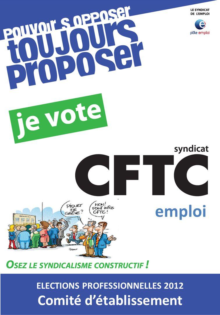 ELECTIONS PROFESSIONNELLES 2012 Comité détablissement emploi