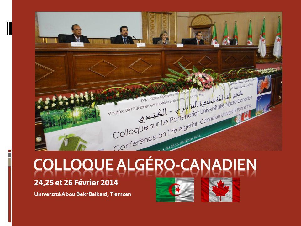 24,25 et 26 Février 2014 Université Abou BekrBelkaid, Tlemcen