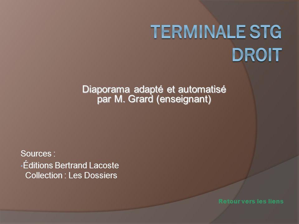 Sources : Éditions Bertrand Lacoste Collection : Les Dossiers Diaporama adapté et automatisé par M. Grard (enseignant) Retour vers les liens