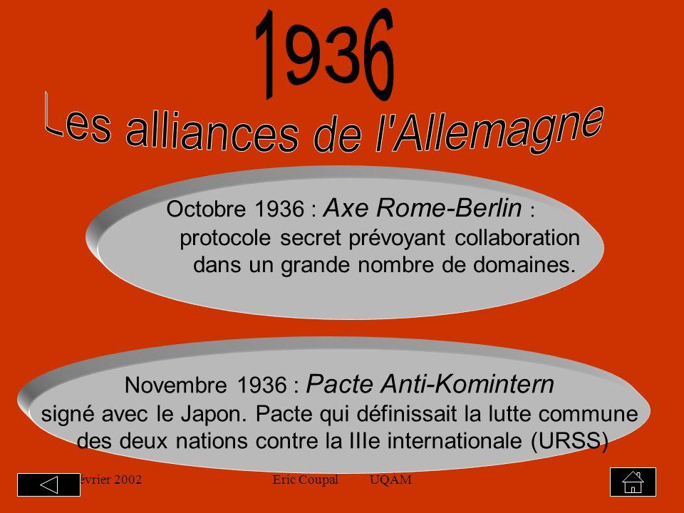 19 février 2002Eric Coupal UQÀM11 Intérêt de cette «ouverture rhénane» 3.