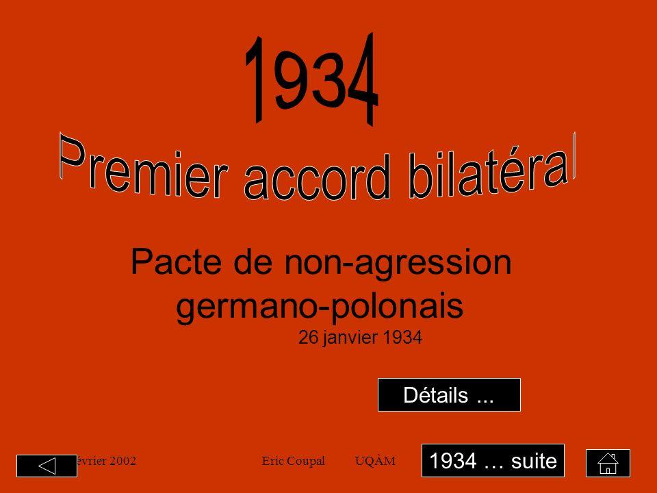 19 février 2002Eric Coupal UQÀM4 14 octobre 1933 1.