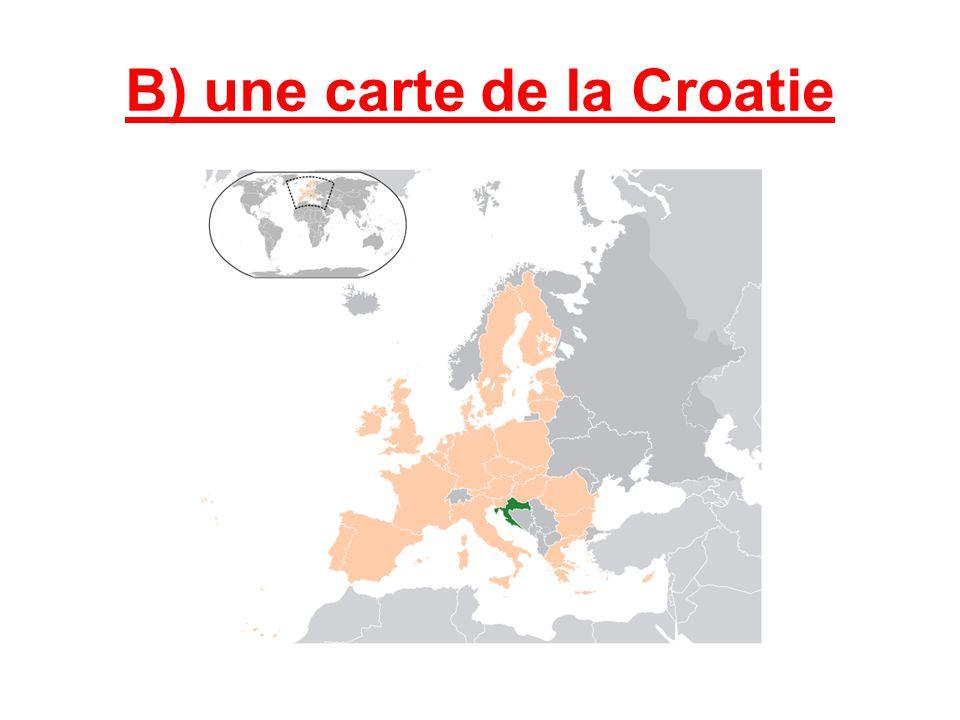B) une carte de la Croatie