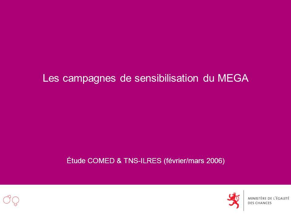 Les campagnes de sensibilisation du MEGA Étude COMED & TNS-ILRES (février/mars 2006)