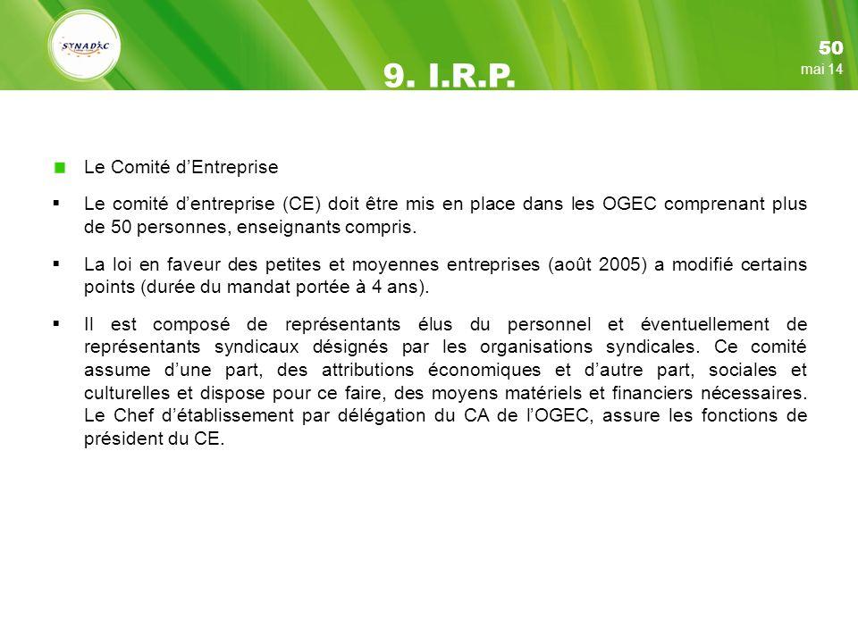 Le Comité dEntreprise Le comité dentreprise (CE) doit être mis en place dans les OGEC comprenant plus de 50 personnes, enseignants compris.