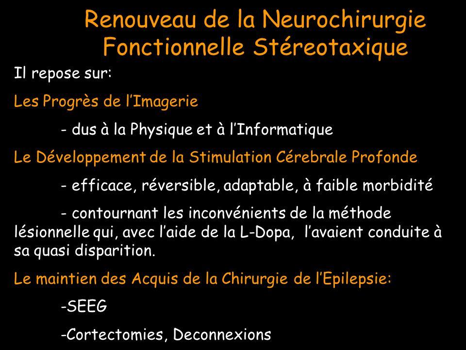 Il repose sur: Les Progrès de lImagerie - dus à la Physique et à lInformatique Le Développement de la Stimulation Cérebrale Profonde - efficace, réver