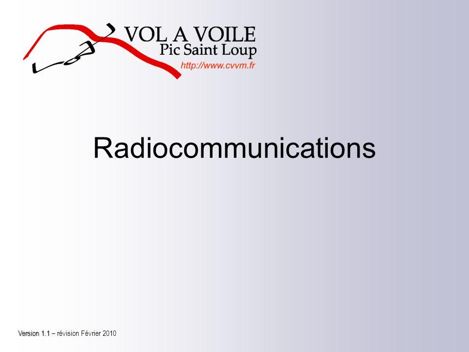 Radiocommunications Version 1.1 Version 1.1 – révision Février 2010
