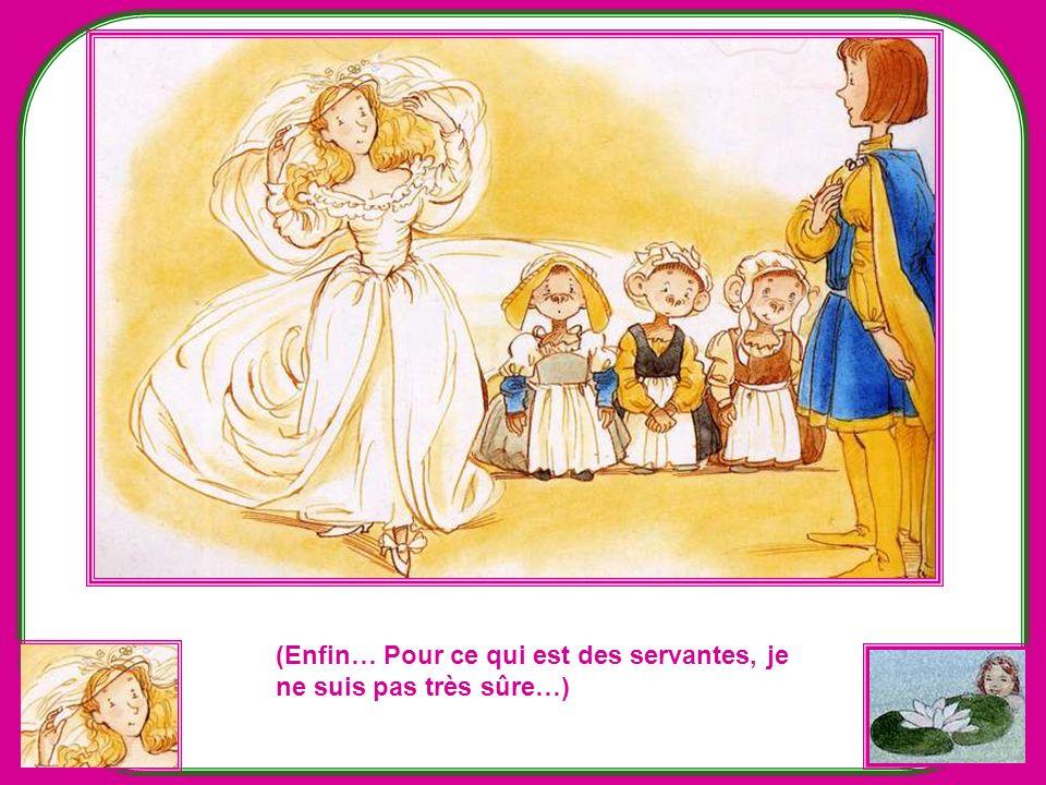 Alors, la princesse-guenon soulève son voile… Quel coup de théâtre ! quelle stupéfaction dans léglise ! Tout le monde tend le cou pour mieux voir ! Ma