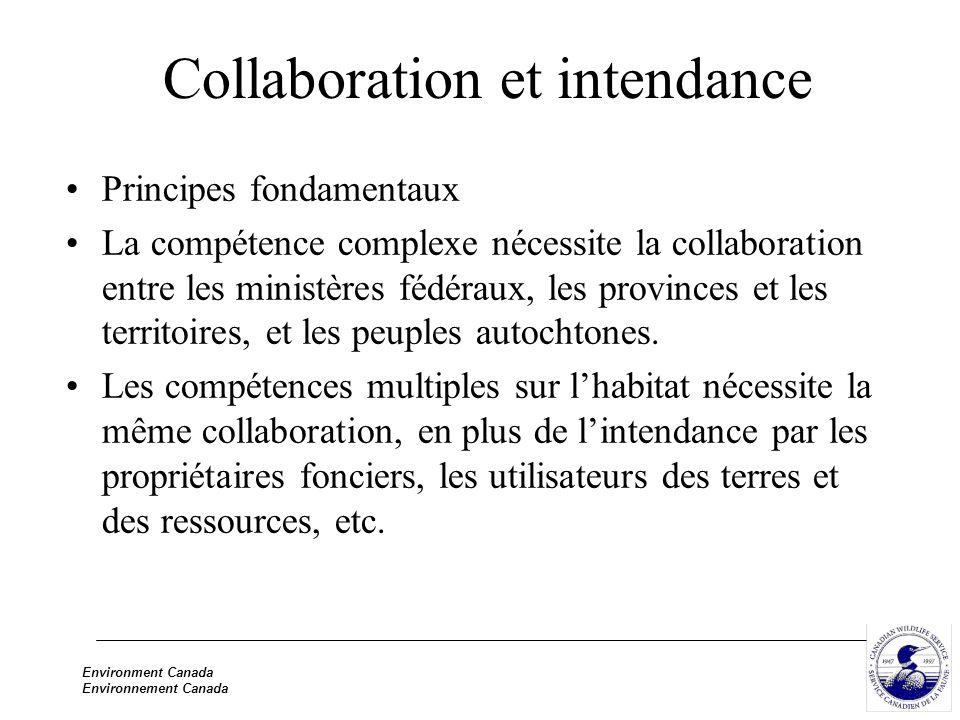 Environment Canada Environnement Canada Collaboration et intendance Principes fondamentaux La compétence complexe nécessite la collaboration entre les