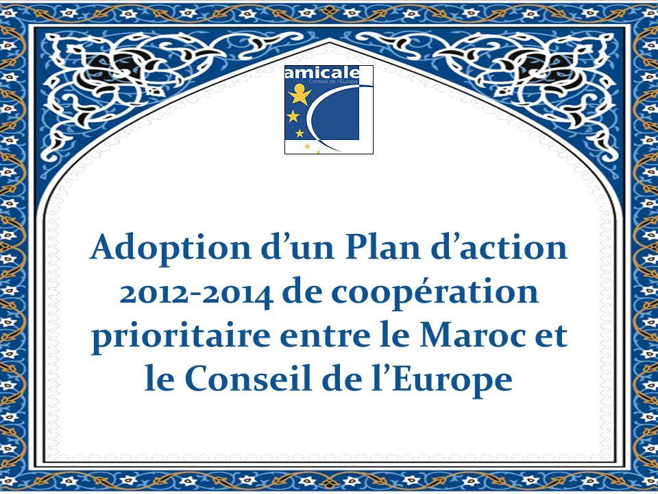 Adoption dun Plan daction 2012-2014 de coopération prioritaire entre le Maroc et le Conseil de lEurope
