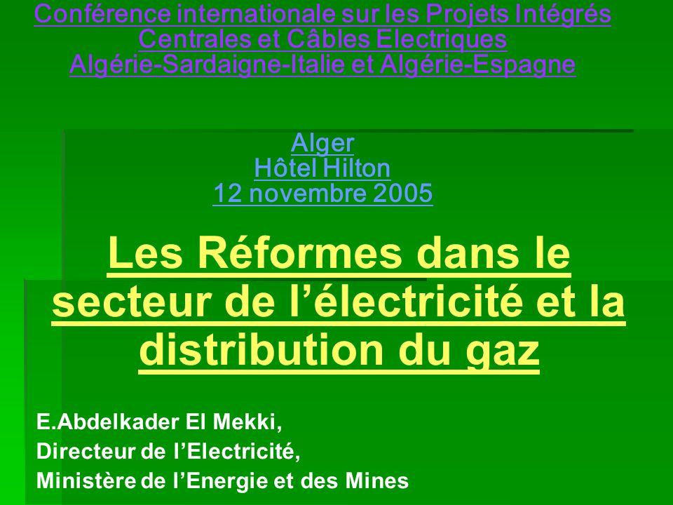 Sommaire Introduction Introduction Le potentiel énergétique Le potentiel énergétique Les réformes Les réformes Réformes dans lénergie Réformes dans lénergie Echanges énergétiques Echanges énergétiques Envt, efficacité énergétique et Enr Envt, efficacité énergétique et Enr Processus de Barcelone Processus de Barcelone Conclusion Conclusion