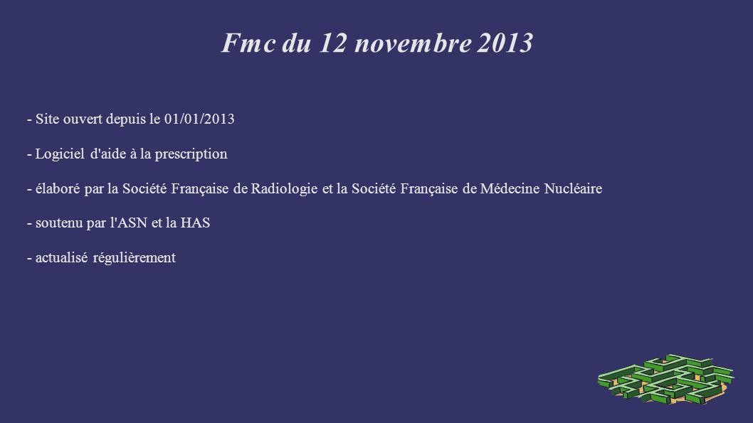 Fmc du 12 novembre 2013 COMMENT UTILISER LE GUIDE .