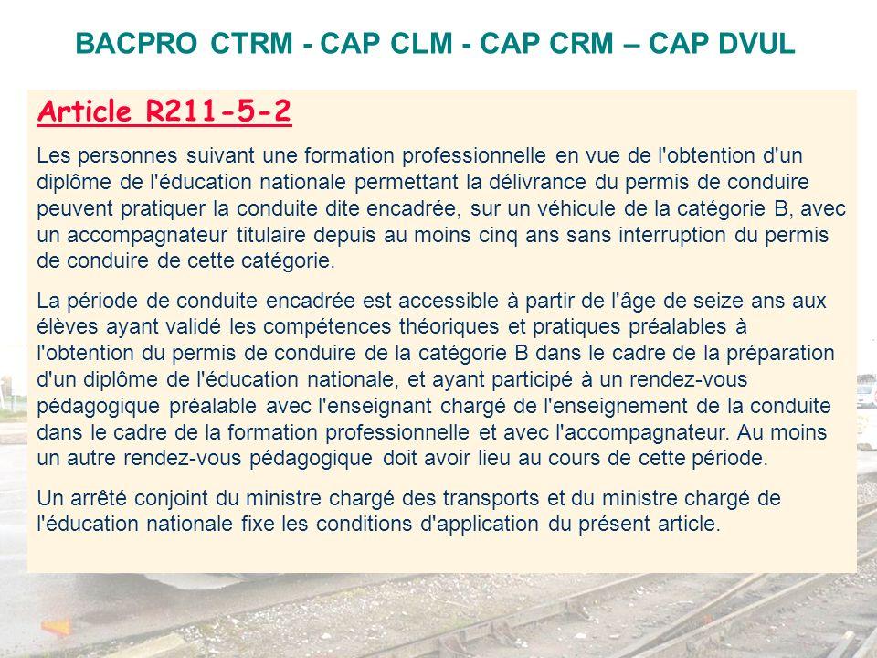 Ce que dit le projet du texte conjoint RDV pédagogique préalable(1) 1 heure minimum sous forme dune séquence de conduite sur le véhicule de létablissement de formation.