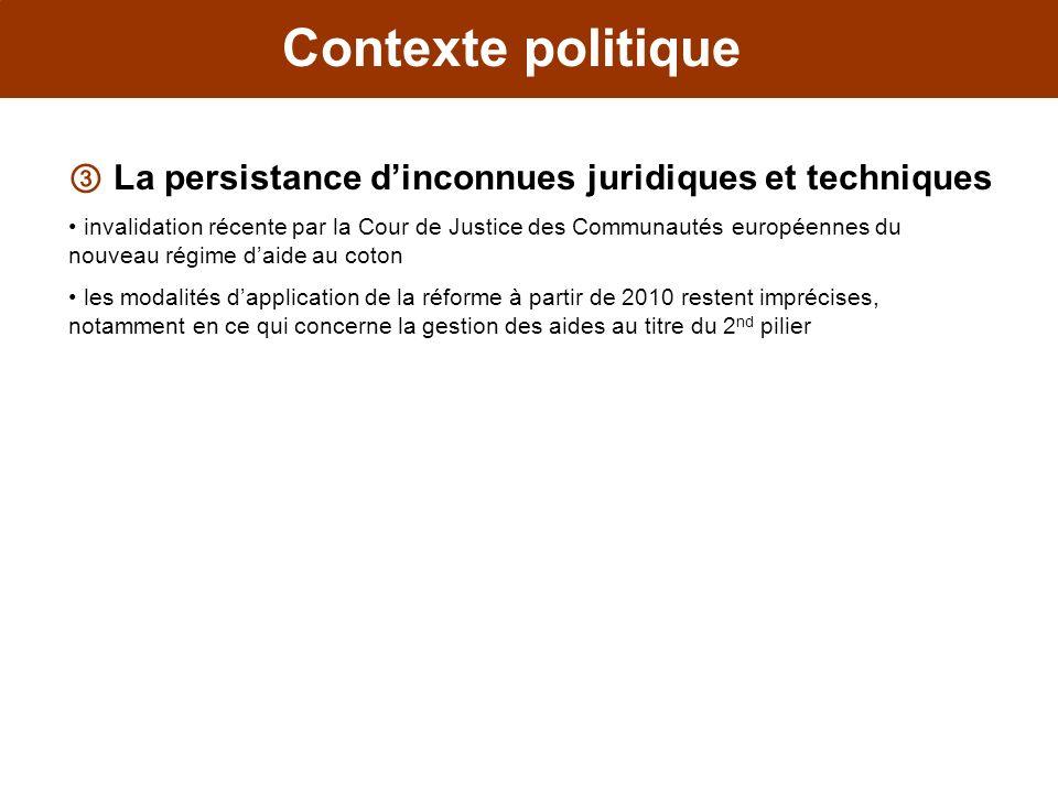Contexte politique La persistance dinconnues juridiques et techniques invalidation récente par la Cour de Justice des Communautés européennes du nouve