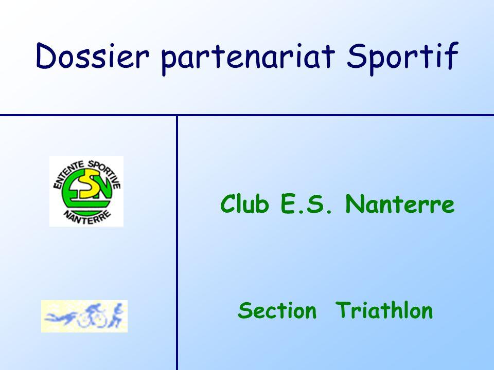 Section Triathlon Club E.S. Nanterre Dossier partenariat Sportif