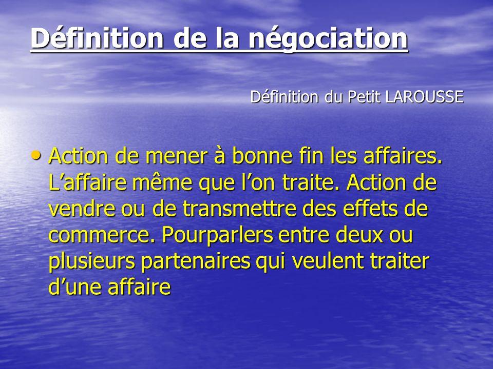 FORMATION A LA NEGOCIATION