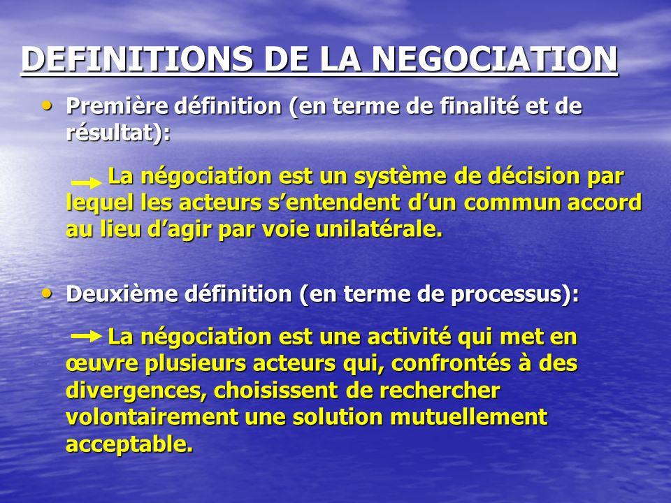 Définition de la négociation du petit Robert Série dentretiens, déchanges de vues, de démarches quon entreprend pour parvenir à un accord, pour conclure une affaire.