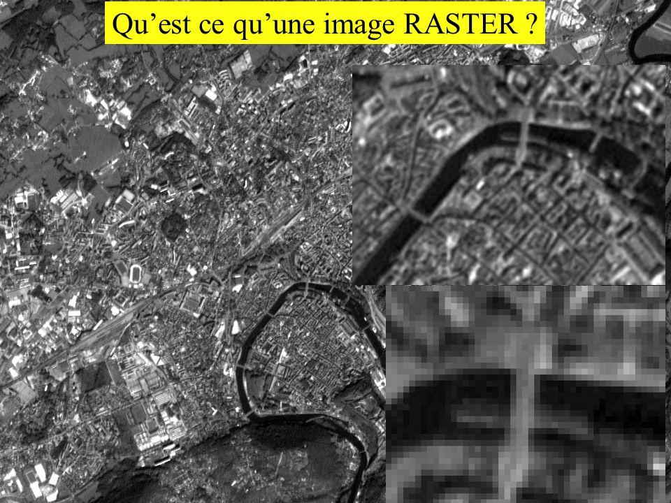 Quest ce quune image RASTER ?