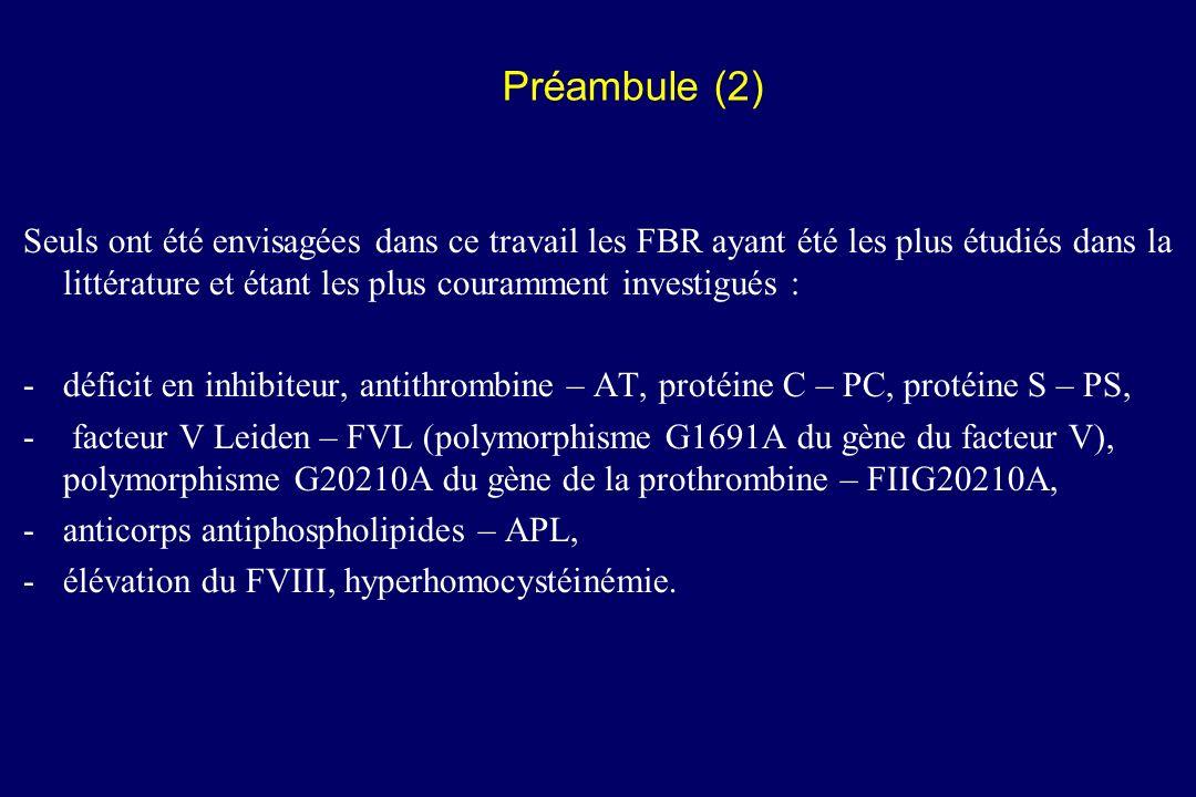 La connaissance de FBR chez un patient ayant déjà présenté une maladie thromboembolique veineuse modifie-t-elle l attitude à adopter en cas d exposition future à une circonstance à risque thromboembolique .